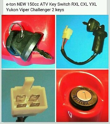 eton 635105 633787 Main key switch e-ton 150cc ATVs ONLY Viper Yukon CXL YXL EXL