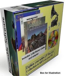 COPY VINYL LP RECORDS & TAPES TO CD MP3  DIGITAL AUDIO on Windows XP 7 8 10 PC