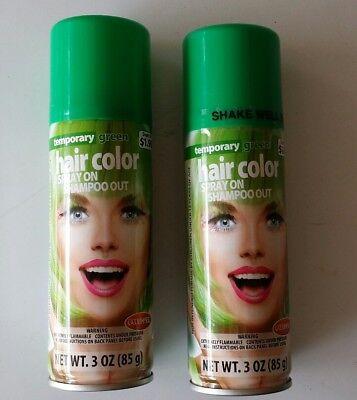 2 ea. - GOODMARK Temporary Green Spray On Hair Green  Color 3 Oz - Shampoo Out ! (Temporary Green Hair Color)