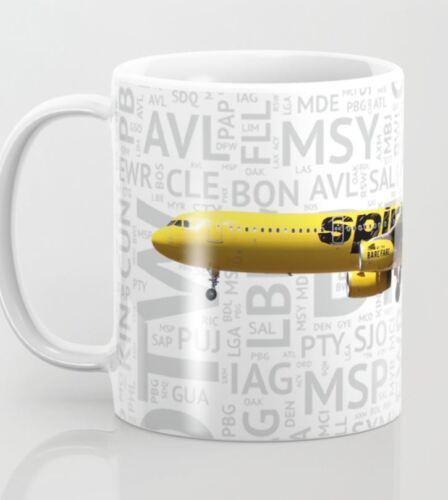 Spirit Airlines Airbus A321 - 11oz Coffee Mug