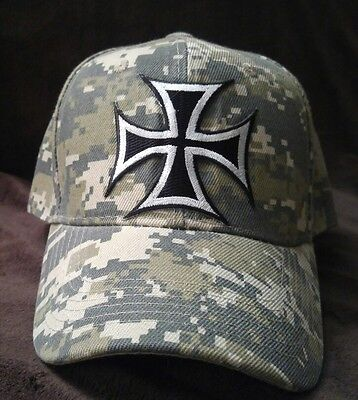 Iron Cross Hat (Iron Cross Camouflage Hat Silver Cross Camo Hat )