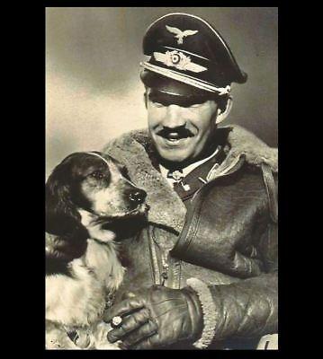 German Fighter Ace Adolf Galland PHOTO Youngest General, Luftwaffe Pilot and - German Luftwaffe Ace Pilot