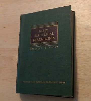 1951 Basic Electrical Measurements Melville B Stout Engineering Book Prentice Hc
