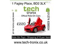 Offical Ride On Cars, Parental a remote Control, Self Drive Many Extra Features From 85.00