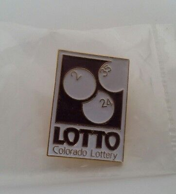 PIN FOR COLORADO LOTTERY-LOTTO  LOTTERY HAT Lapel PIN Button