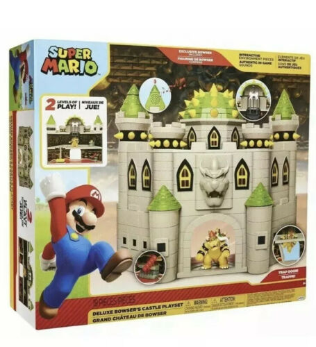 SUPER MARIO DELUXE BOWSER'S CASTLE PLAYSET WITH EXCLUSIVE BO