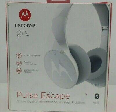 Motorola Pulse Eclipse bluetooth wireless headphones white