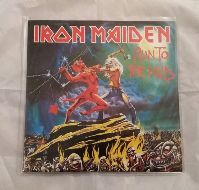 IRON MAIDEN - RUN TO THE HILLS - LIMITED EDITION RED VINYL-  7INCH SINGLE