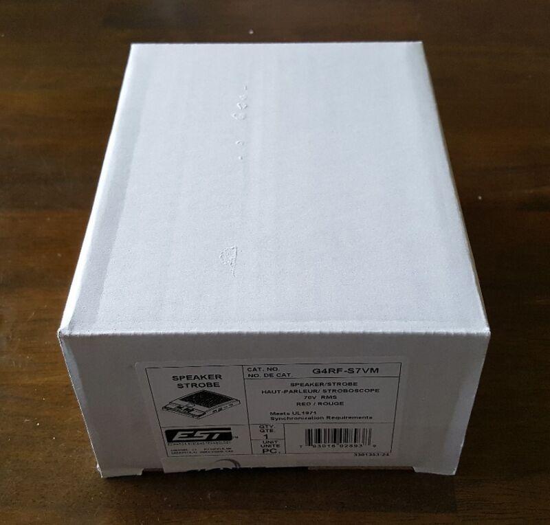 EST G4RF-S7VM Speaker Strobe Red NEW!!! in Factory Box Free Shipping