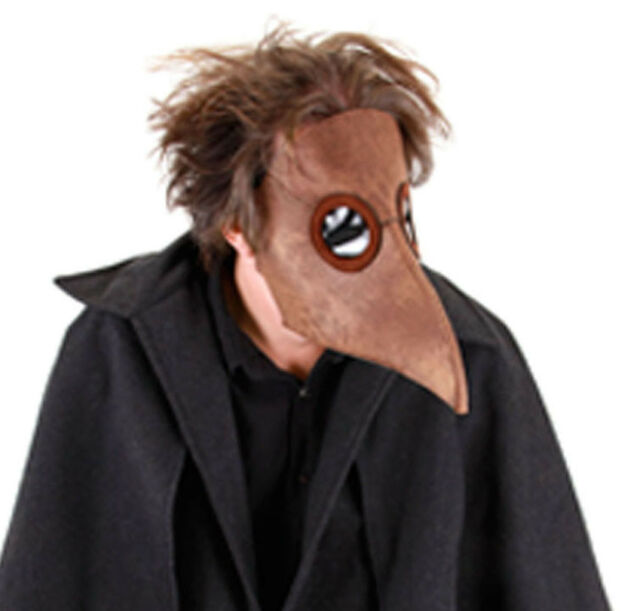 plague doctor mask black death bird adult halloween costume accessory - Halloween Costume Death