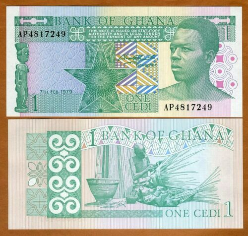 Ghana / Africa, 1 Cedi, 1979, P-17a, UNC
