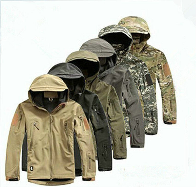 Men Outdoor Jacket Waterproof TAD Coat Shark Skin Soft Shell Hoodie Hunting