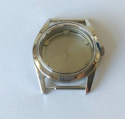 Stainless Steel Watch Case & Back, Glass, Crown  Swiss Made ETA 2490