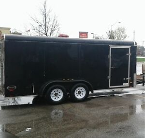 7.5x16 ft enclosed trailer