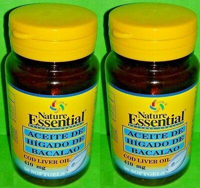 Aceite higado bacalao 410 mg 2x50 perlas Salud Cardiovascular Trigliceridos