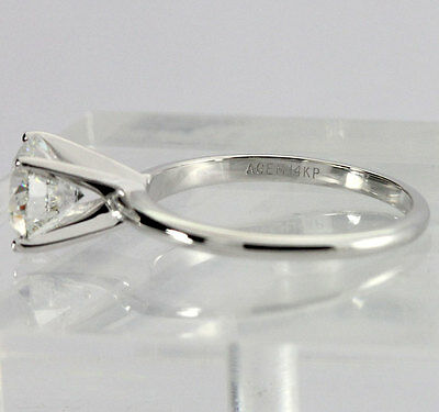GIA diamond engagement ring solitaire 14K w/gold HVS2 round brilliant 1.61CT NEW 6