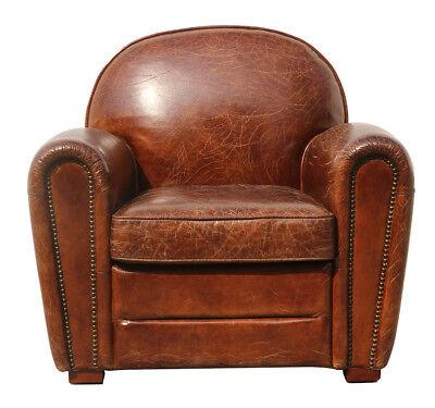 Brown Leather Paris Club Chair