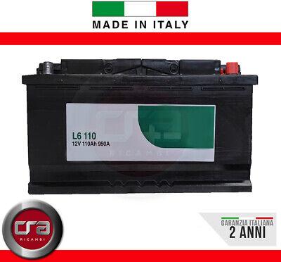 BATTERIA AUTO CAMION 110 Ah 950A Spunto Potenziata Garanzia Italia 394x175x190