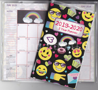 1 2019-2020 Funny 2 Two Year Planner 2019-20 Monthly Pocket Calendar Datebook