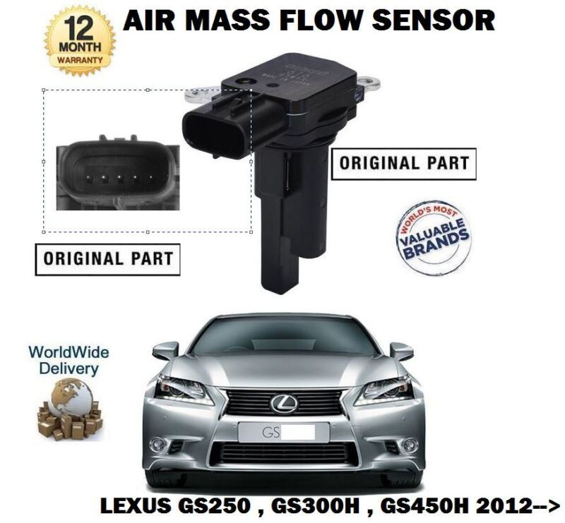 FOR LEXUS GS250 GS300H GS450H HYBRID 2012--> NEW ORIGINAL AIR MASS FLOW SENSOR
