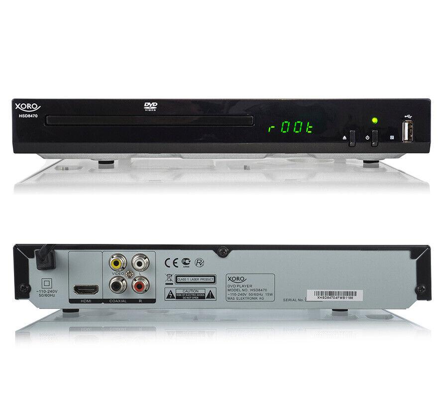 DVD-Player Xoro HSD 8470 MPEG4 USB 2.0 Mediaplayer, MultiROM,