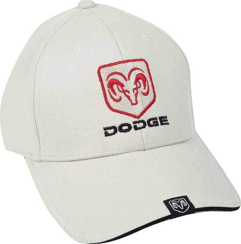 Dodge Ram Licensed Cotton Sandwich Brim Bone Hat