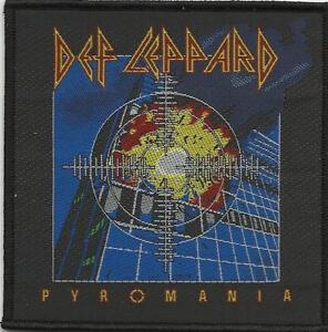 DEF LEPPARD pyromania 2012 square WOVEN SEW ON PATCH official - no longer made