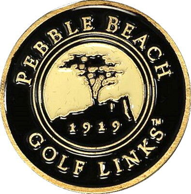 PEBBLE BEACH - BLACK - Retro STYLE Magnetic GOLF BALL MARKER (Black Beach Ball)