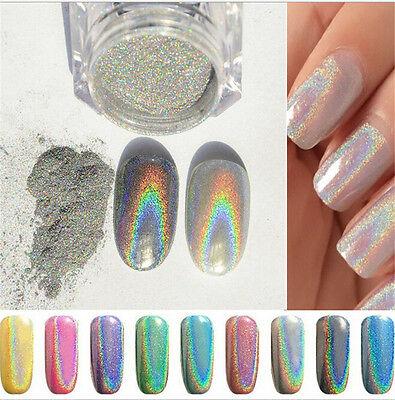 1G Holographic Holo Chrome Glitter Powder Dust 3D Nail Art Decor Pretty Diy  P