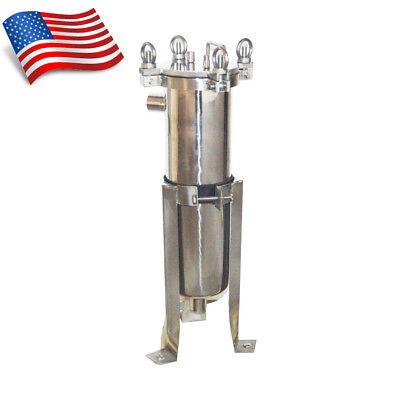 Brand New 304 Stainless Steel Bag Filter Housing 150psi 1in Npt Usa Stock