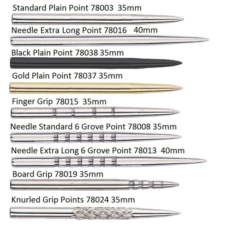 Unicorn Replacement Dart Points - Finger, Board, Grooved or Knurled Grips