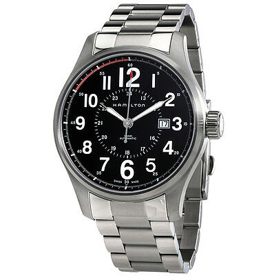 Hamilton Khaki Field Officer Automatic Black Dial Stainless Steel Watch