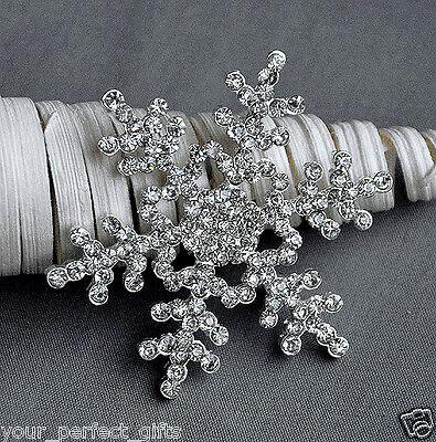 Luxury Large Wedding Bridal Brooch Pin Crystal Rhinestone Snowflake Winter Theme