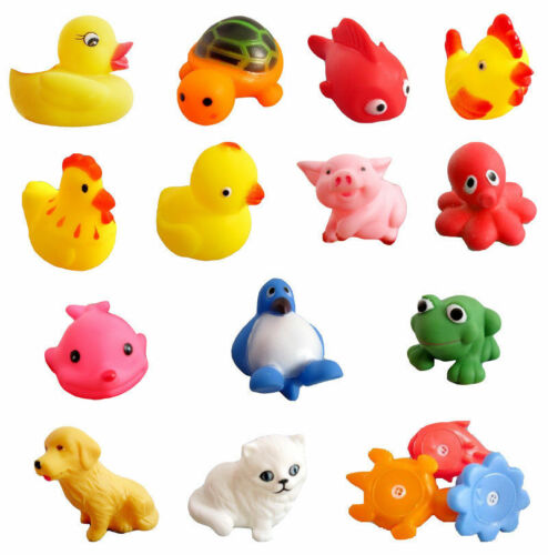 13Pcs Soft Rubber Float Sqeeze Sound Baby Wash Bath Play Animals Baby Toys .*