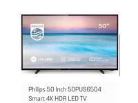 SELLING: A Philips 50 Inch Smart 4K HDR LED TV