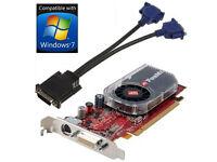 ATI FireMV 2250 PCI-E Multi View 256MB Graphics Card + Dual VGA Splitter Cable