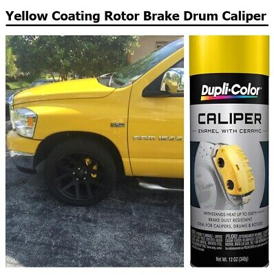 Yellow Coating Springs Rotor Brake Drums Caliper Engine Enamel Paint High Temp