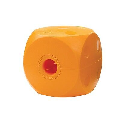 Buster Cube Dog Toy - Mini - 3 1/2 in Your dog can exercise himself Fun Buster Cube Dog Toy