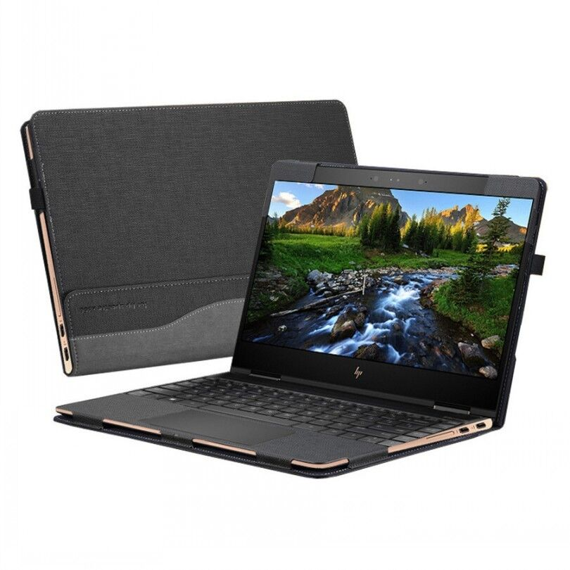 For HP Spectre X360 13.3 Inch Laptop Sleeve Case PU Leather
