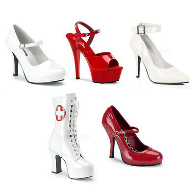 Nurse Costume High Heel Halloween Costume Shoes
