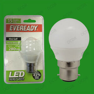 8-x-4W-LED-Eveready-Ultra-Bassa-Energia-Istantaneo-Avvio-Golf-Lampadine-BC-B22
