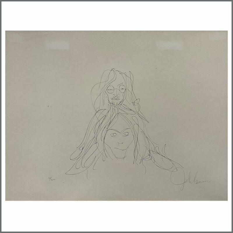 John Lennon Bag One Autographed John And Yoko Lithograph 74/300 (UK)