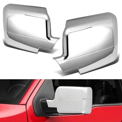 For 2004 2005 2006 2007 2008 Ford F150 Full Chrome Side Mirror Covers F-150