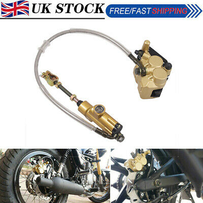 UK Hydraulic Rear Disc Brake Caliper System for Dirt Pit Bike ATV Gokart 110cc