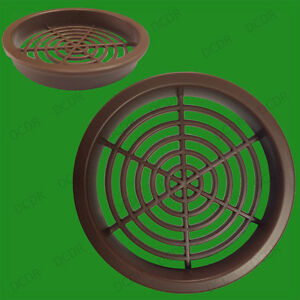 50x grille d a ration ronde marron grille de ventilation. Black Bedroom Furniture Sets. Home Design Ideas