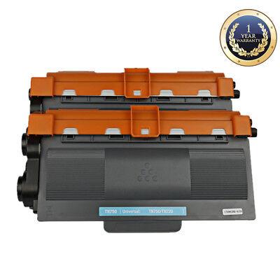 2PK for Brother HL-5450DN HL-6180DW Printer Toner TN750 TN72