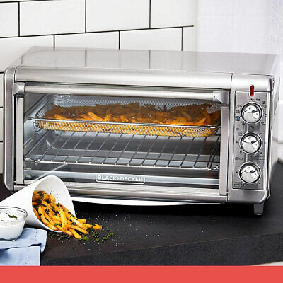BLACK+DECKER Extra Wide Crisp N Bake Air Fry Toaster Oven, 12
