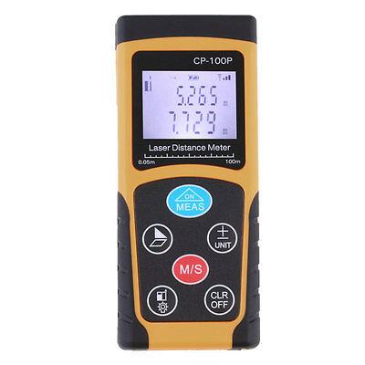 100M / 328ft Digital LCD Laser Distance Meter Range Finder Measure Diastimeter