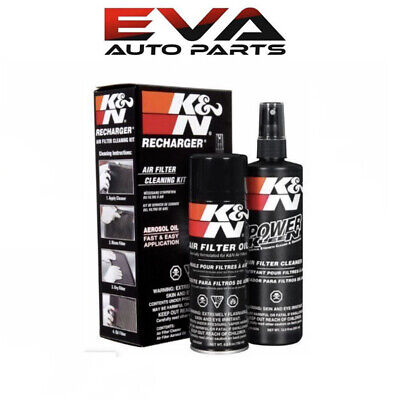 Kit K And N Filters - K&N Air Filter Cleaning Cleaner Recharger Kit With Oil Spray Can 99-5000