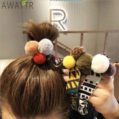 Fashion Women Wide Rubber Band Sports Hair Ball Hair Rope Ring Ponytail Holder (Hairball Band)